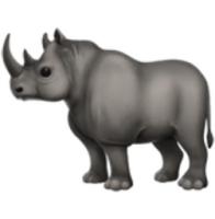 Rhinoceros Emoji (U+1F98F)