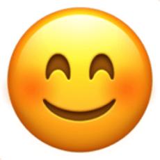 Smiling Face with Smiling Eyes Emoji (U+1F60A)