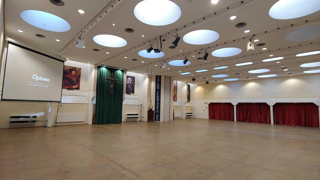 The Newman Room is in an area, 23m x 14m which can be used for a variety of activities; to date it has been used for conferences be it for 50 or 500, boards of inquiries, examination centre, cinema, fashion shows, antique fairs, dances, talks, tutorials, choirs, orchestras and chapel.