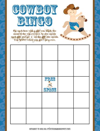 cowboy bingo