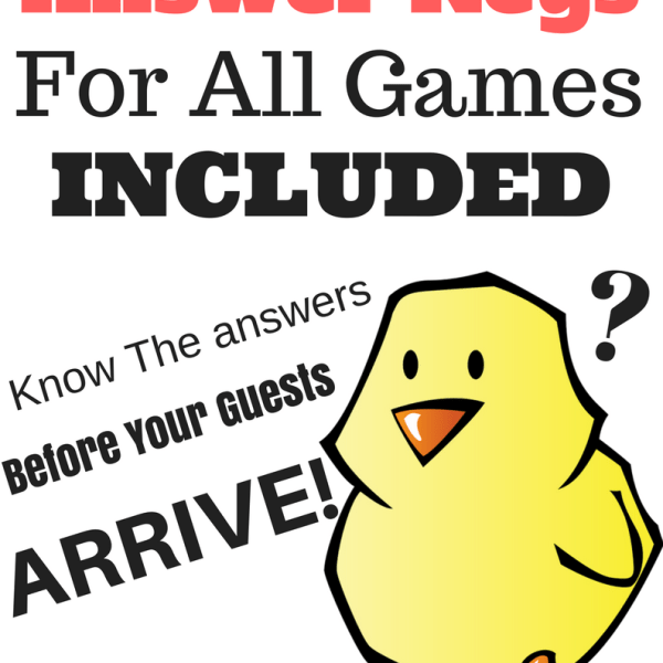 Answer Keys For All Games Included!