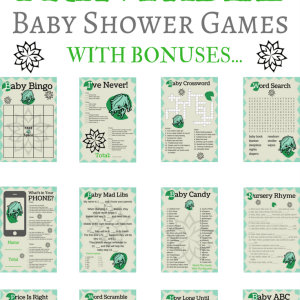 frog baby shower printable games