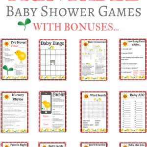 printable chick baby shower games