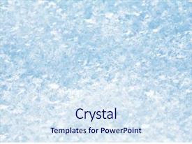 Ice Crystal Powerpoint Templates W Ice Crystal Themed
