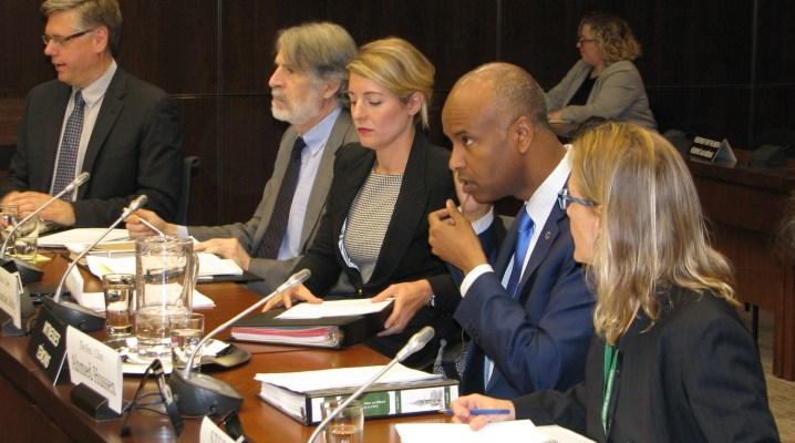 (La ministre du Patrimoine canadien, Mélanie Joly et le ministre l'immigration, des Réfugiés et de la Citoyenneté canadienne, Ahmed Hussen. Crédit image: Benjamin Vachet)
