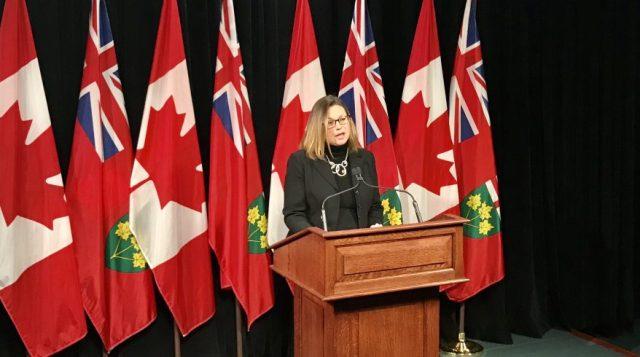 ritique en matière de Finances du Nouveau parti démocratique de l'Ontario, Catherine Fife. Crédit image: Jean-François Morissette