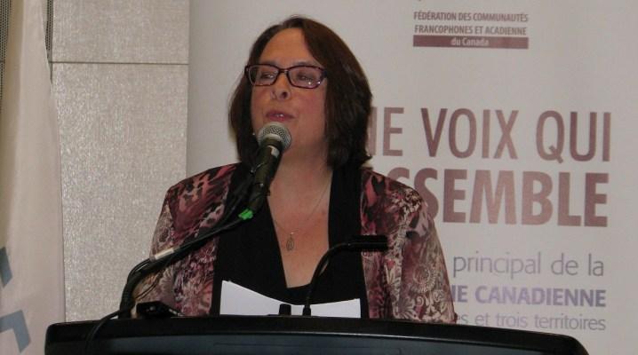 La présidente de la FCFA, Sylviane Lanthier. (Archives #ONfr)