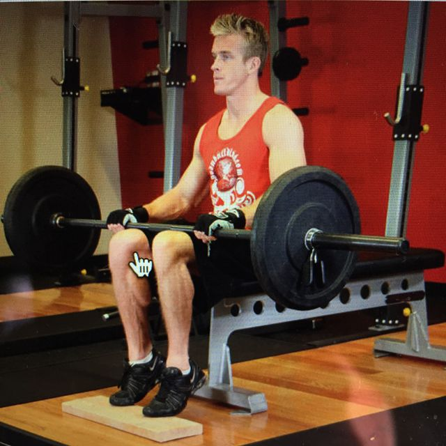 Barbell Seated Calf Raises Exercise How To Workout