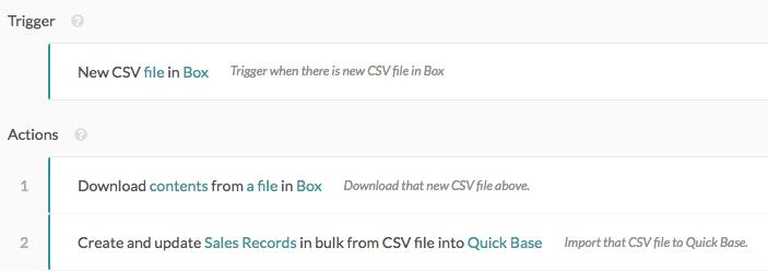 Bulk import CSV file to Quick Base