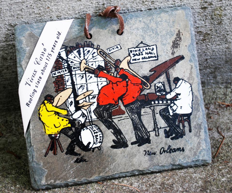 jazz design new orleans signed hand painted vieux carre old roofing