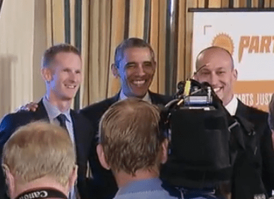Billy and Tony with President Obama