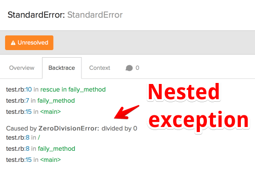 New: nested exceptions
