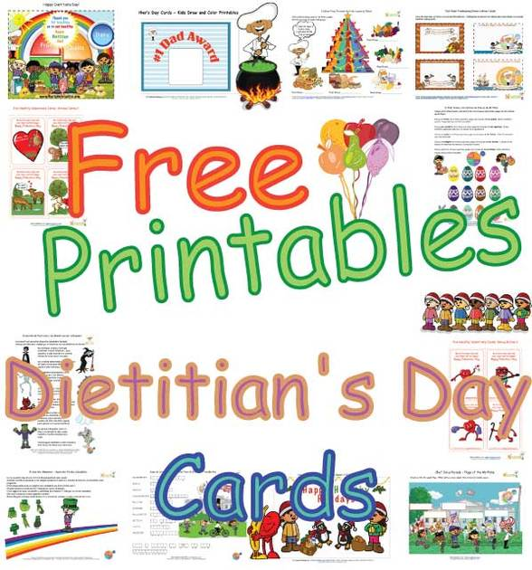 Cute Dietitians Day Cards For Kids Healthy Foods