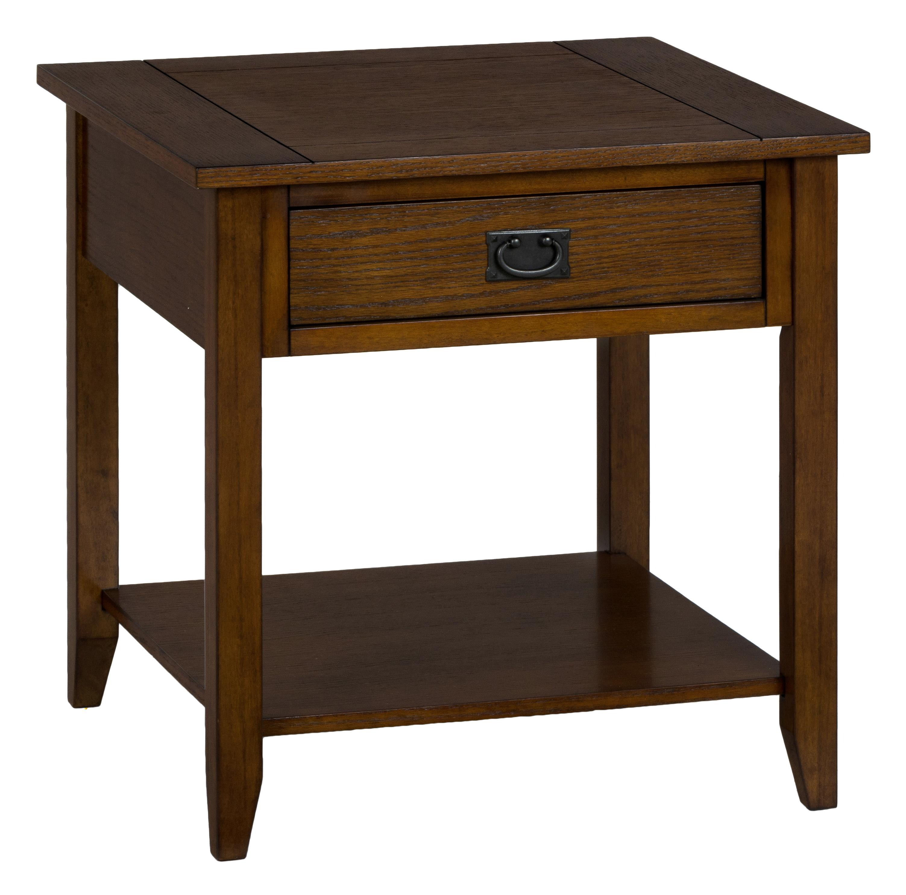 Jofran 1032 3 Mission Oak End Table With 1 Drawer And 1