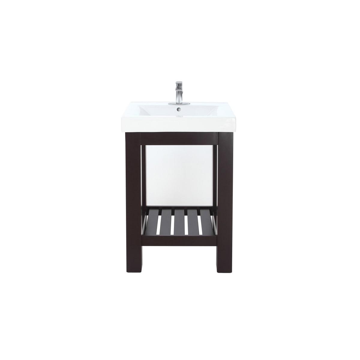 free standing single basin vanity set