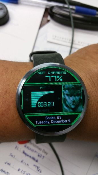 Yes that is a Metal Gear codec watch face!