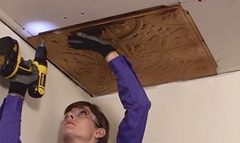 tin ceiling tile types american tin