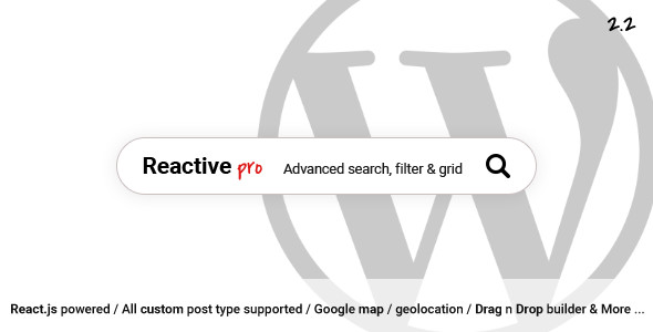 Reactive Pro - Advance WP search, filter & grid