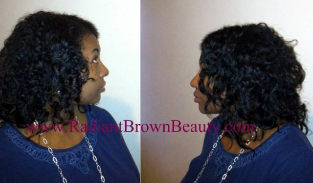 twist out with bask hair products