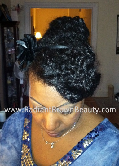 front of natural twists style
