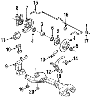 SUSPENSION COMPONENTS for 1993 Infiniti G20