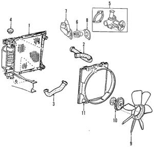 RADIATOR & COMPONENTS for 1999 Mazda B3000