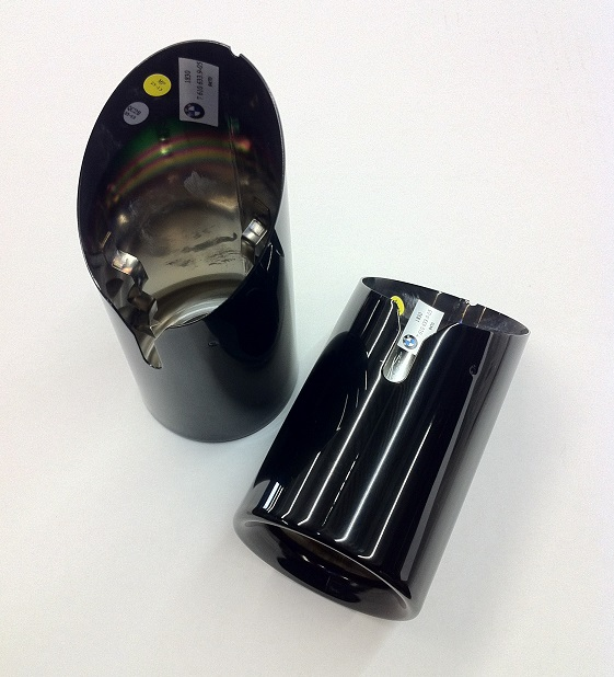 f2x 2 series f3x 3 4 series black chrome exhaust tips sold individually