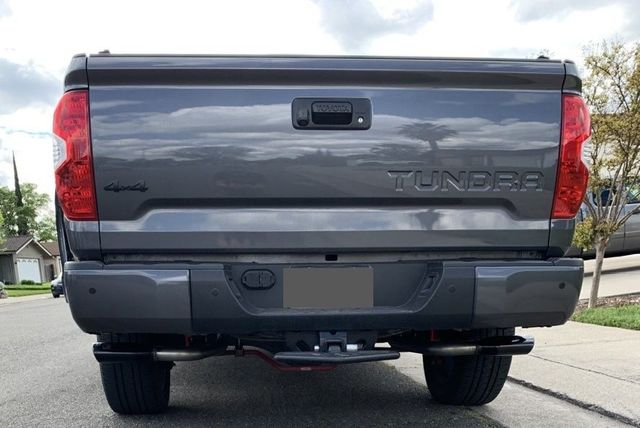 genuine toyota tundra trd performance dual exhaust system black chrome tailpipe kit this product requires ptr03 34191