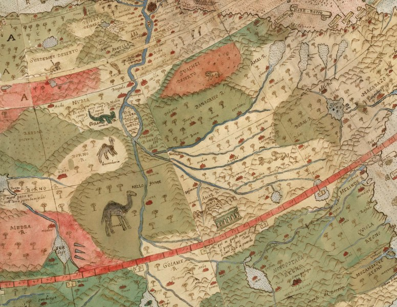 David Rumsey Historical Map Collection   Largest Early World Map     Click Here to Open a Window that Allows 90 degree Rotation of Monte s  Planisphere   see Rotation icon in Upper Left Corner
