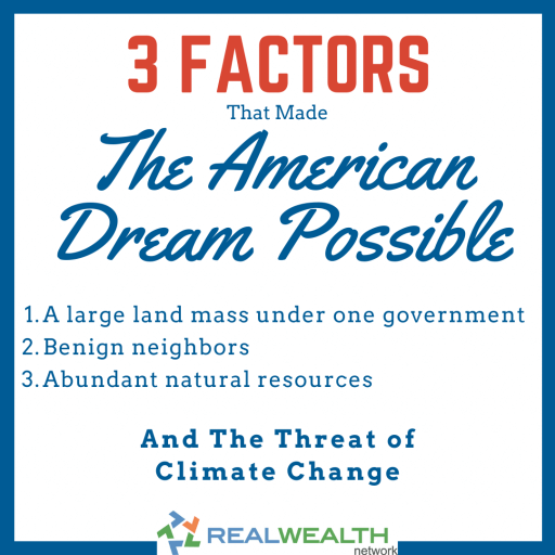 Image Highlighting 3 Factors that Made the American Dream Possible