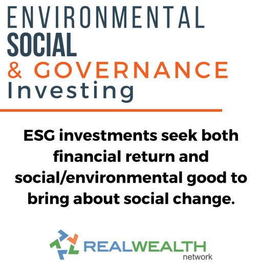 Image Highlighting Environmental-Social-Governance Investing