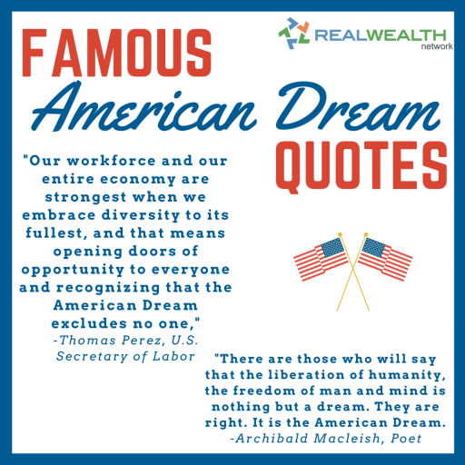Image Highlighting Famous American Dream Quotes