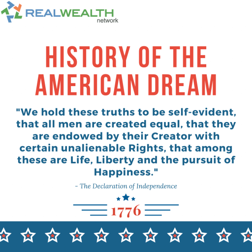 Image Highlighting the History of the American Dream