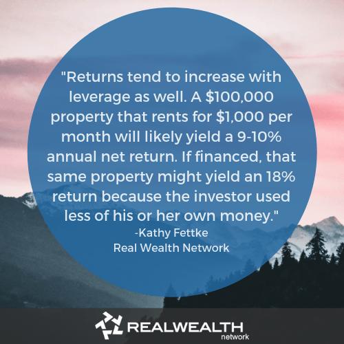 Kathy fettke quote on financing investment property image