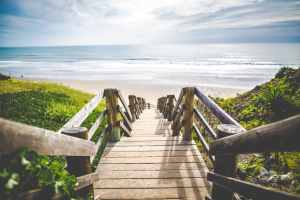 Picture of Stairs Going Down to the Beach for Real Estate News for Investors Podcast Episode #572