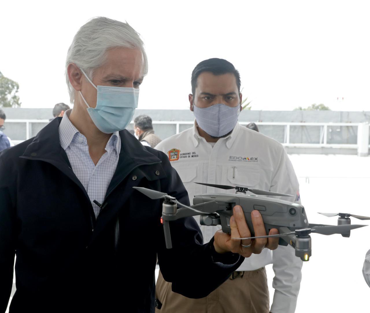 USO DE DRONES FORTALECE LAS ACCIONES DE SEGURIDAD Y VIGILANCIA EN EL EDOMÉX: ALFREDO DEL MAZO