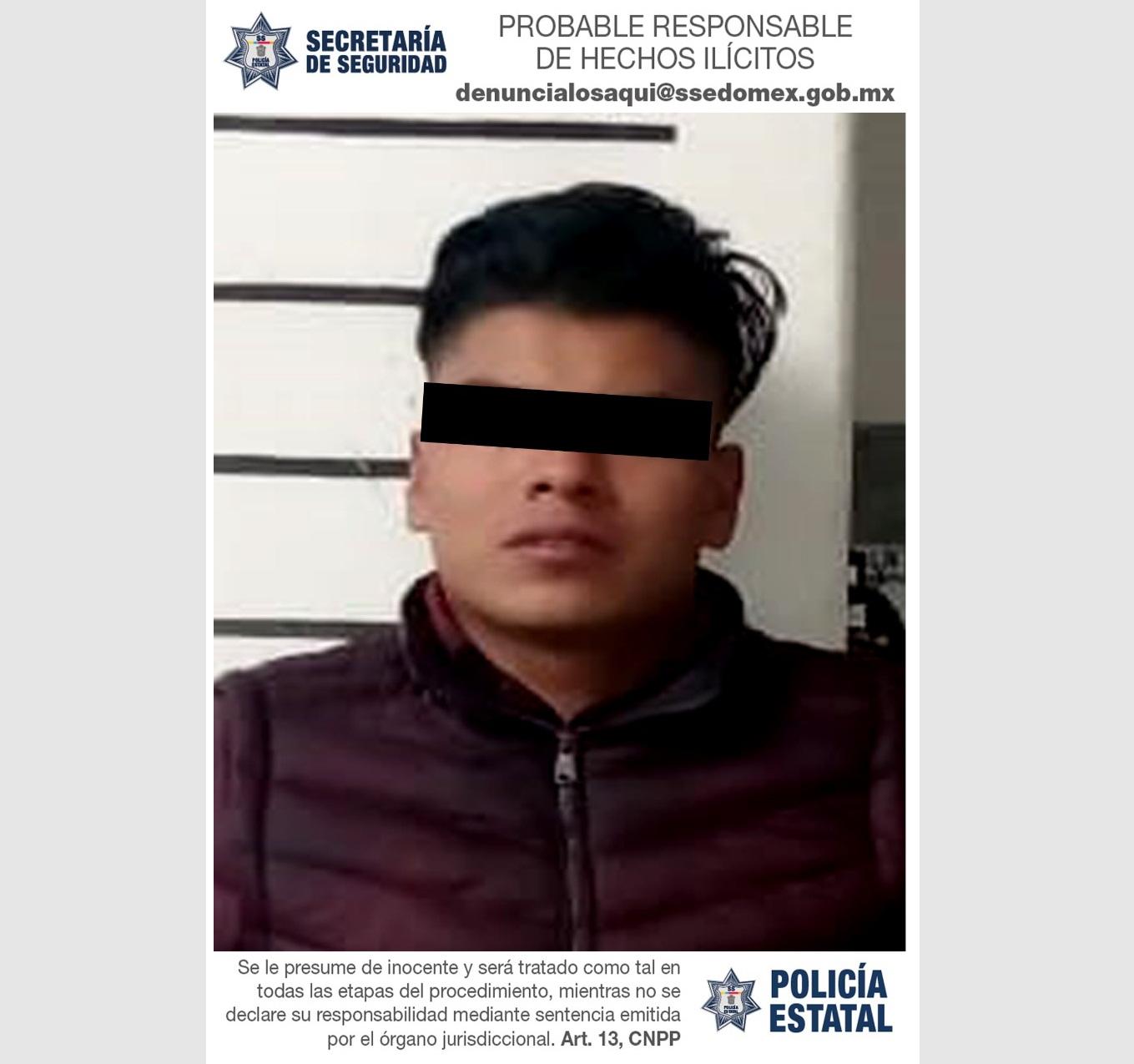 DETIENEN A SUJETO POR EL DELITO DE PORTACIÓN ILEGAL DE ARMA DE FUEGO