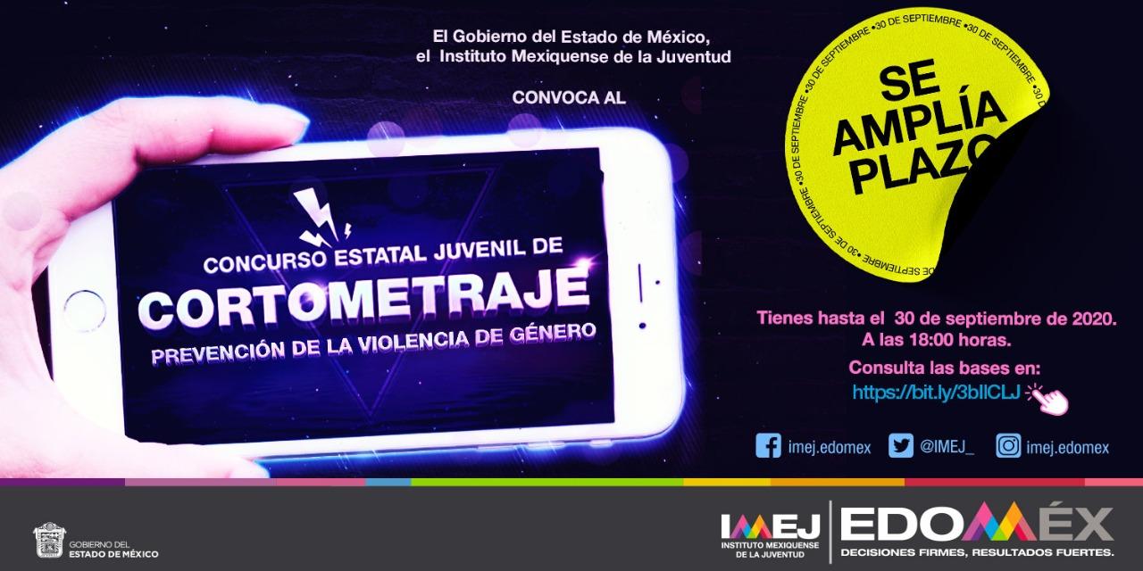 CONVOCAN A PARTICIPAR EN EL CONCURSO JUVENIL DE CORTOMETRAJE EDOMEX