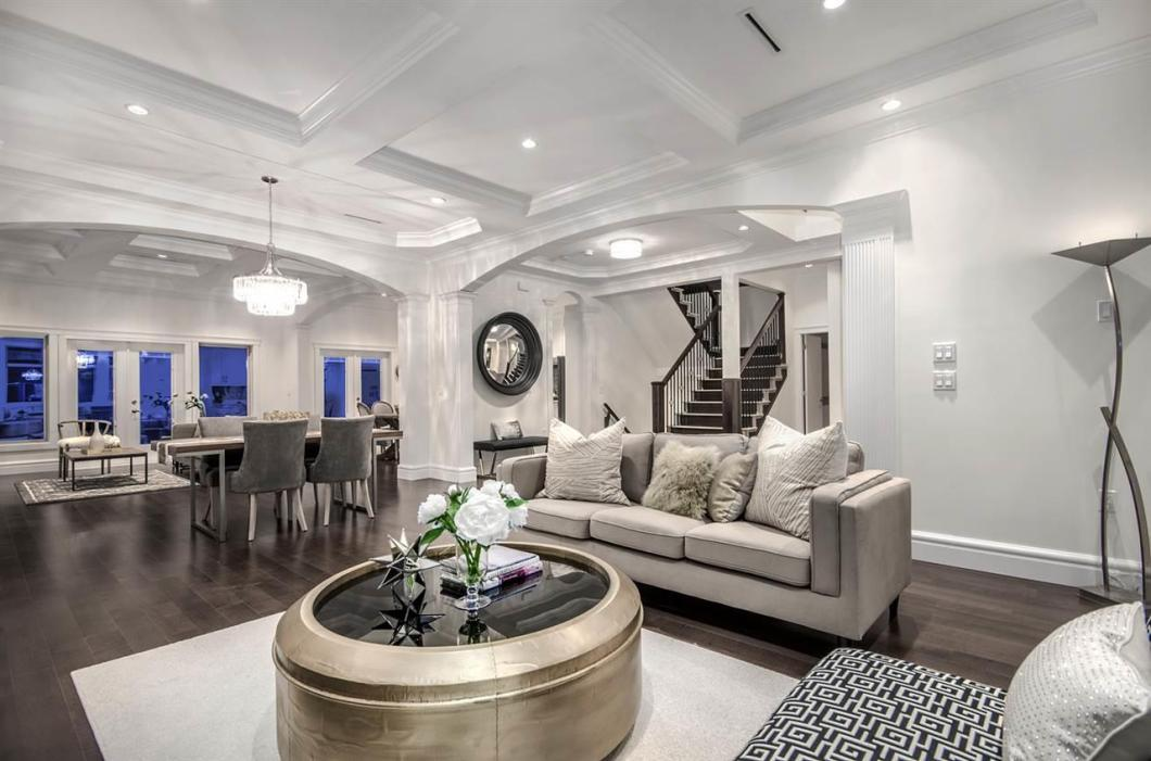 Exceptional Home completed Fall of 2017, super convenient location just a few minutes to Vancouver & Metrotown. Beautifully designed 7 bedrooms, 7 bathrooms, spacious office (that can be an 8th bedroom) & media room. Bonus 2 Bedroom Legal Suite & 1 Bedroom Nanny/In-law Suite with separate entrances. Enjoy Radiant Heat/Air Conditioning, Designer finishings, hardwood, tile, Chef inspired Kitchen with extra large Island & Wok/Spice Kitchen, European style Pillars and Designer Ceilings provides so much Character in this Modern Style Home! 2 patios off the living space and Mud Room for the kiddies!  Mountain & City Views! Quality Built, Builder has over 20 years experience with Single Family & Multi Family Homes. 2-5-10 National Home Warranty. Move in Ready.
