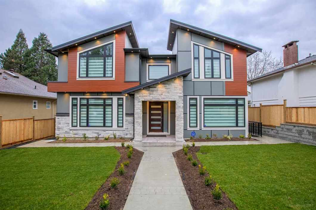 Beautiful Modern home in Prestigious Deer Lake Place. Open Concept Living & Dining room leading into family room. Family room finished w/ 14 ft vaulted ceiling , decorative wall, 6 ft linear fireplace. Beautiful kitchen w/ huge breakfast bar Island for entertaining. Extra Wok kitchen. 1 bedroom, full bath on main & powder room. Top floor has big master room w/ double sinks, soaker tub & custom built shower in bath. 2nd bedroom w/ ensuite. 2 more beds share a bath. Laundry w/ sink. Basement contains 2 bedroom legal suite w/ laundry. 1 bedroom & bath for upstairs use. Media room w/ separate entry. Quality built home w/ vaulted high ceilings, radiant heated floors, A/C, HRV, security cameras, security system. Close to Burnaby Central Sec, Deer Lake, BCIT, Metrotown, Burnaby Village Museum.
