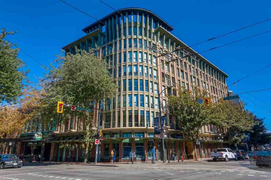 Legal loft in the heart of Gastown. Corner unit makes this suite extra bright, 15 foot floor to ceiling windows, south facing loft. The best location on the 4th floor. Main floor features an open kitchen with a massive living area. 4 piece bathroom with in-suite laundry. 2nd floor Loft / bedroom / office overlooking the living space. This funky and cool space would make a great studio for an artist to display huge canvases on the feature wall. Walk to the best of the neighbourhood including: cafes, bars, shopping, sports stadiums and transportation. 1 parking (CP), pets (DOGS & CATS) and rentals welcome (currently rents for $1,590). Photos and floor plan available on Realtor?s website.