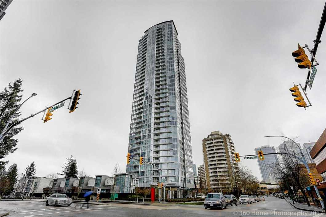 Prime Location. Extravagant Views of North Shore Mountains, Fraser River, Deer Lake & Downtown. Luxury concrete high-rise at Metrotown, developed by Reputable Polygon. This very well kept corner unit offers the best floor pan in the building with 2 separate bedrooms and 2 baths & large balcony. Modern kitchen with top end appliances, quartz countertops & Mirage hardwood floors. Amenities include a Yoga Centre, gym, lounge with a grand piano and full-time manager. Super affordable maint fees. Steps to Metrotown shopping mall, Silver City Cinema, Bonsor Recreation Centre and skytrain station. Balance of 2-5-10 new home warranty. Text listing agent for quicker response. Easy to show. All showings by appointment.