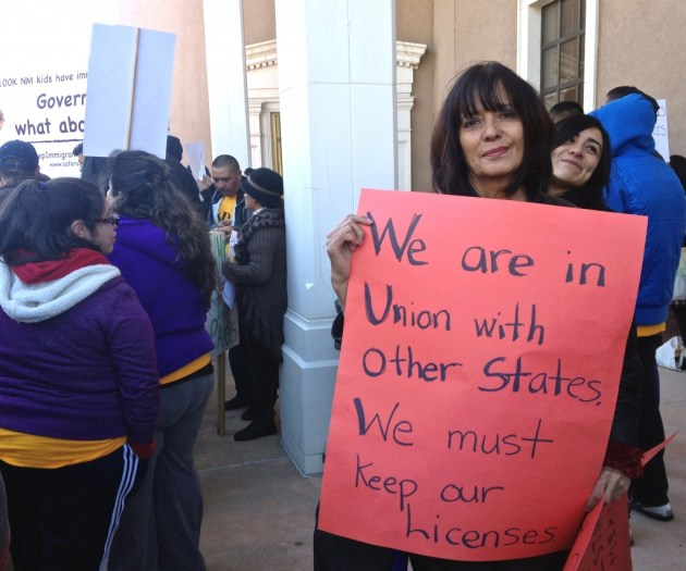 """Laura Nuñez is a substitute teacher whose grandparents were immigrants. To her, the driver's license issue affects both public safety and local economies. Other states are offering driver's licenses to undocumented immigrants, said Nuñez, """"why are we going the other way? Before this governor, there wasn't a problem. So why is there now?"""""""