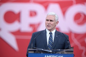 Governor Mike Pence of Indiana speaking at the 2015 Conservative Political Action Conference (CPAC) in National Harbor, Maryland. cc
