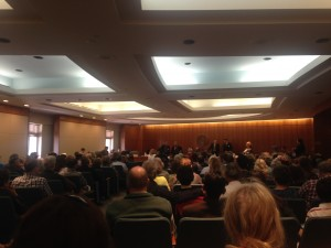The Senate Public Affairs Committee room was filled to overflowing for Sunday's hearing on abortion restricionts
