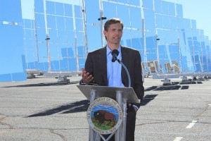 U.S. Senator Martin Heinrich at the announcement of the approval of the SunZia transmission line in January, 2015. Photo via Martin Heinrich's office