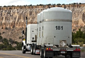 Shipment of waste from Los Alamos National Labs to WIPP.  Photo Credit: Los Alamos National Laboratory cc