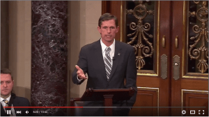 Screenshot of Senator Martin Heinrich participating in Rand Paul's filibuster over NSA data collection.