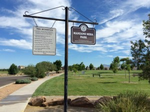 Manzano Mesa Park, where events that led to the March 22 shooting began.