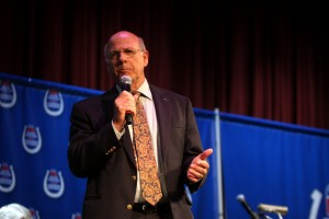 Congressman Steve Pearce speaking at the Western Republican Leadership Conference in Las Vegas, Nevada in 2011. Photo Credit: Gage Skidmore cc